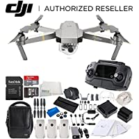 DJI Mavic Pro Platinum FLY MORE COMBO Collapsible Quadcopter Drone Videographer Bundle