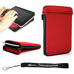Travel Slim Nylon Carbon Fiber Design Cube Case For Apple iPad 1,2 and 3 Generation + Determination Hand Strap