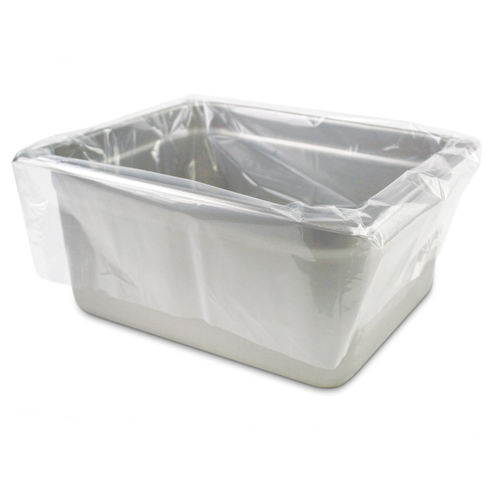 PanSaver 42636 Half Medium/Deep Pan Liner, 23'' x 14'', Clear