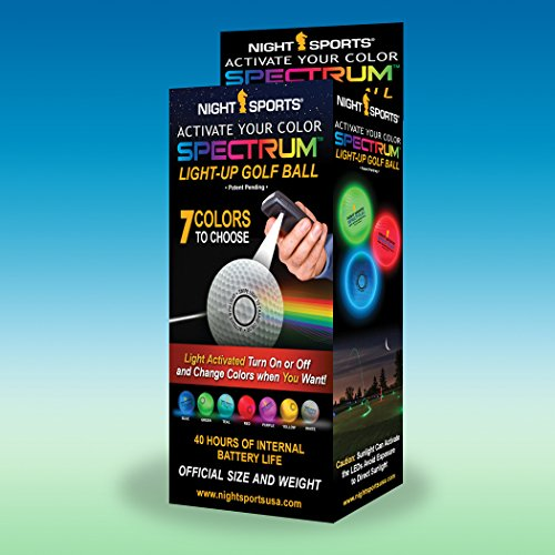 Night Sports Spectrum 3 Pack Light Activated 7 Color LED Golf Balls for $<!--$29.99-->