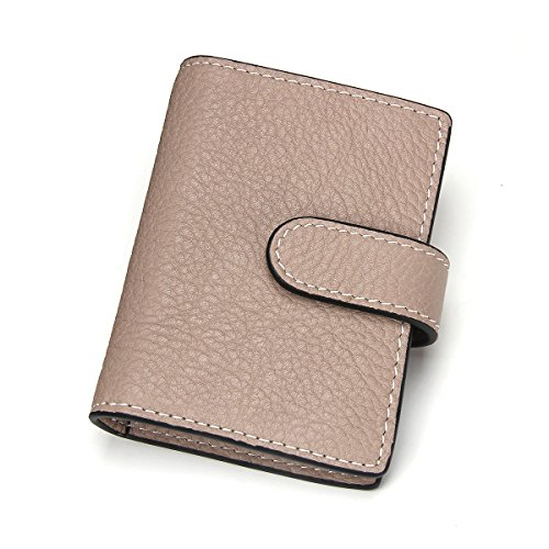 Contacts Genuine Leather Business Name Credit ID Card Holder Case 26 Card Slots (Cowhide Leather Business Card)