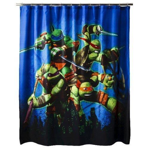 ninja turtle shower curtain hooks - 6