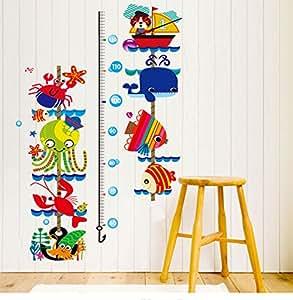 Big M Seaworld Card Sets Height Stickers Waterproof Wall Decal Sticker