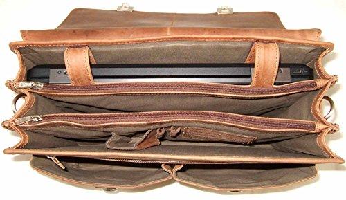 Taupe Portadocumenti Cm Natur 42 Pelle Compartimenti Cartella Antico Portatile Harold's pwfOq8xAq