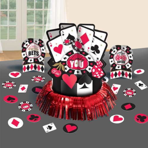 Amscan Casino Birthday Table Decorating -