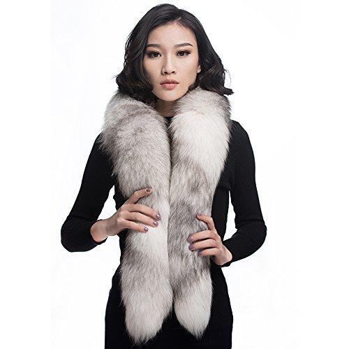 Boa Scarf Pattern (URSFUR Cross Fox Fur Collar Boa Scarf Women Winter Neck Warmer Scarves Wrap)
