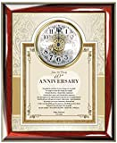 Personalized Anniversary Poem Clock for Parents Poetry Gift Frame Plaque Anniversary Mom and Dad Present