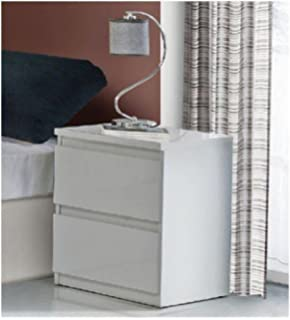 stunning white lacquer nightstand furniture. lucia white gloss bedside table by furniturefactor stunning lacquer nightstand furniture