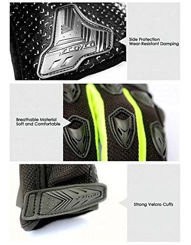 Wonzone Men's BMX MX ATV Powersports Racing Gloves Bicycle MTB Racing Off-road/Dirt bike Sports Gloves (Red, Medium) by Wonzone (Image #4)