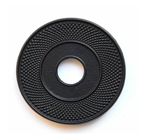 (RUIKA Cast Iron Trivet for Teapot Black Hobnail 5.5-Inch Diameter)