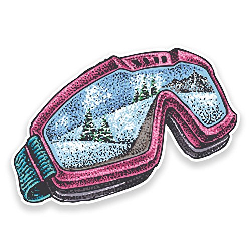 2 x Ski Snowboard Goggles Vinyl Stickers -