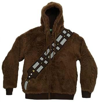 Star Wars Men's I Am Chewie Hooded Costume Fleece, Brown, Small