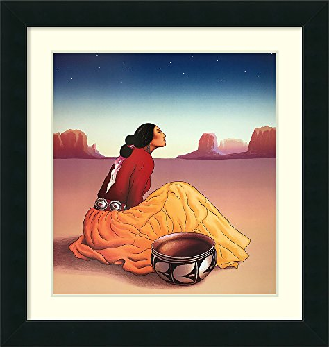 Framed Art Print 'La Noche' by R. C. Gorman
