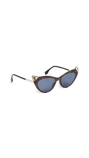 Amazon.com: Fendi Gafas de sol con logo de gato para mujer ...