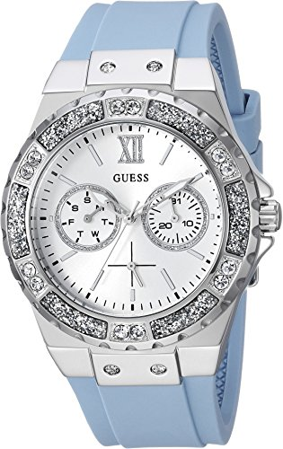 GUESS Women's Quartz Stainless Steel Casual Watch, Color:Blue (Model: U1053L5) (Guess Watches For Women Blue)