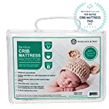 Crib Mattress Protector by Margaux & May - Waterproof, Noiseless, Ultra Soft - Dryer Friendly - Deluxe Bamboo Rayon - Fitted, Quilted - Stain Protection Baby Cover (Standard Size 52