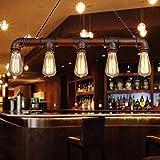 nice art deco lighting ideas Lixada Retro Vintage Personality Bronze Metal Water Pipe Shaped Hanging Drop Pendant Lamp Holder Light Base for 5 E27 Bulbs Room Bar Decoration