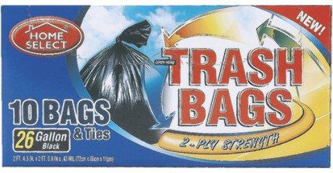Home Select Trash Bags 26 Gallon