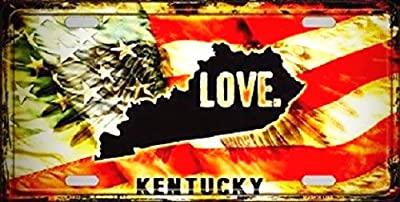 Kentucky Love Novelty Metal License Platefor Home/Man Cave Decor by PrettyMerchant