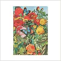 Paperblanks Agende Flexi de tapa blanda de 18 meses 2021 – 2022 El jardín de las mariposas | horizontal | Midi (125 × 175 mm)
