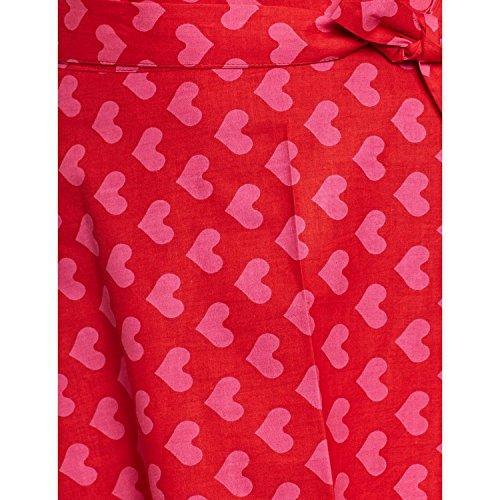 ShalinIndia - Camisola - para mujer Maroonred PINK