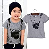 Baby Tees for 1-5 Years Old,Cute Toddler Boys Girls
