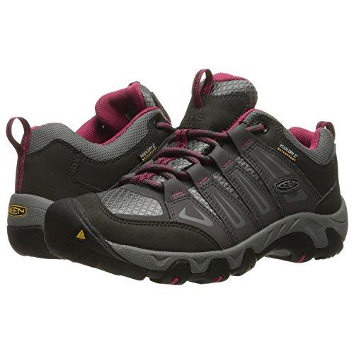 KEEN Women's Oakridge Waterproof Shoe, Magnet/Rose, 7.5 M US by KEEN