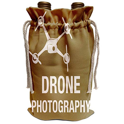 3dRose KIKE CALVO Drone and Unmanned Vehicle Collection - Brown Drone for Photography - Wine Bag (wbg_179893_1)