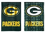 NFL Green Bay Packers Suede Two Sided Glitter Embellished Garden Flag, Medium, Multicolored