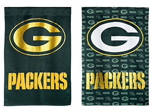 (Team Sports America NFL Green Bay Packers Suede Two Sided Glitter Embellished Garden Flag, Medium, Multicolored)