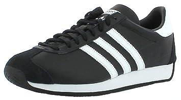 new styles 7bcfb 7ec31 Scarpa Adidas Originals Country Og Uomo Sneakers Pelle Nero Bianco Nuovo  S81861  MainApps  Amazon.it  Scarpe e borse