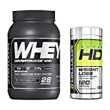 Cellucor SuperHD Thermogenic Fat Burner Weight Loss Supplement for Men & Women, 60 Capsules + Cor-Performance Whey Protein, Molten Chocolate, 2lbs