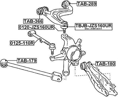 TAB-479 Genuine Febest Arm Bushing For Lateral Control Arm 48710-60121