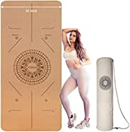 Iodoo Yoga Mat Extra Wide 72''*32''*6mm Eco-Friendly Rubber Absorb Sweat Non Slip Exercise & Fitness Yoga