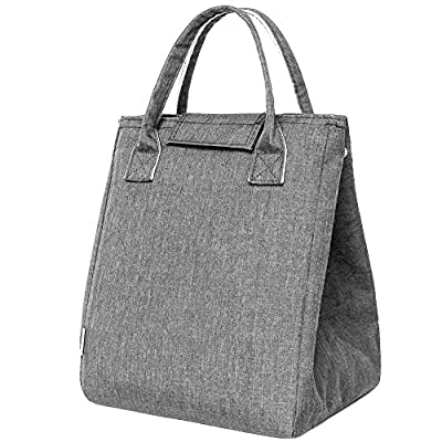 Moosoo Reusable Thermal Foldable Lunch Bag Lunch Tote Insulated Lunch Box Picnic Bag School Cooler Bag for Men Women Ladies Girls Children Kids Student