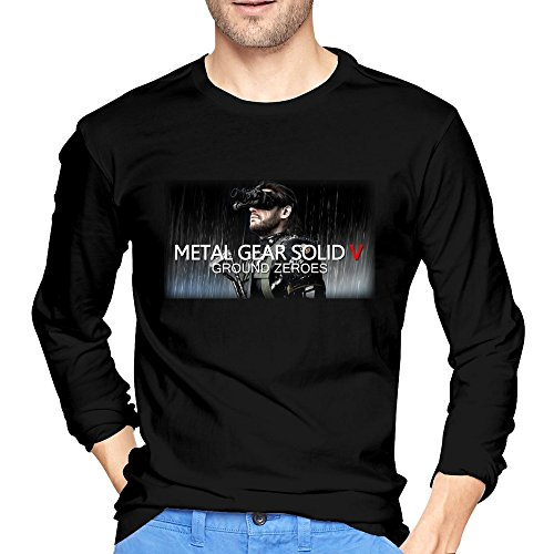 Mans Metal Gear Solid 5 Ground Zeroes T-shirts Black Cool