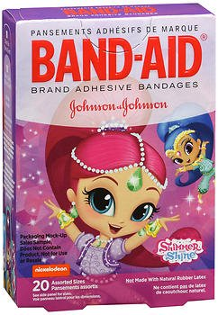 Band-Aid Brand Nickelodeon Shimmer and Shine Bandages, 20 Assorted Sizes Per Box (5 Pack)