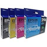 Epson 4 Pack Cartuchos Tinta T296 4 mL Color Negro, Cian, Magenta, Amarillo, Compatibles Expression XP-231, XP-241, XP-431, X