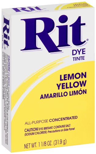 Rit All-Purpose Powder Dye, Lemon Yellow - Dye Lemon