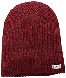 neff Men\'s Daily Heather Beanie, Black/Red, One Size