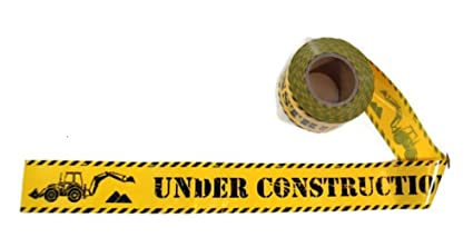 ce6e9f626ddd Amazon.com: TorxGear Kids Under Construction Party Tape! - 300 Foot ...