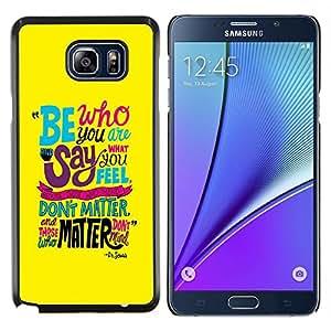 Jordan Colourful Shop - Funky Text Yellow Teal Be Inspiring Message For Samsung Note 5 N9200 N920 Personalizado negro cubierta de la caja de pl????stico