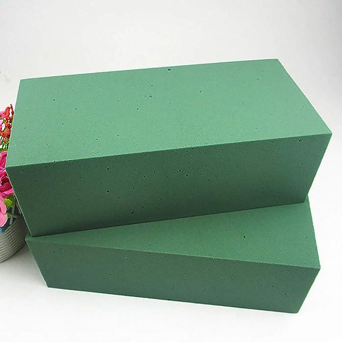 espuma de barro de flores 6 bloques de espuma floral ladrillos verdes de espuma de poliestireno para florister/ía aplicados secos o h/úmedos para arreglos florales