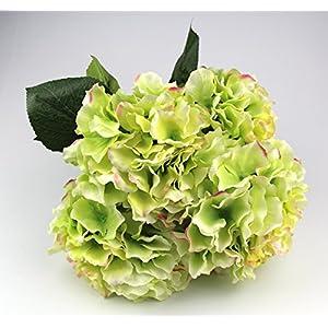 Raylinedo Artificial Hydrangea Silk Flower 5 Big Heads Bouquet Home Decoration 42