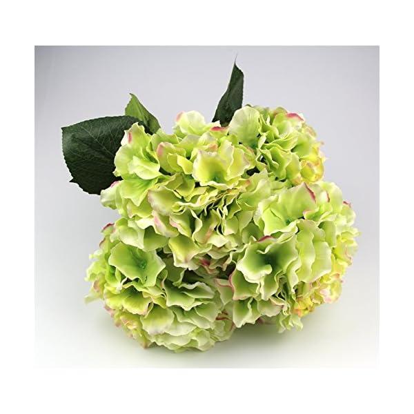 Raylinedo Artificial Hydrangea Silk Flower 5 Big Heads Bouquet Home Decoration
