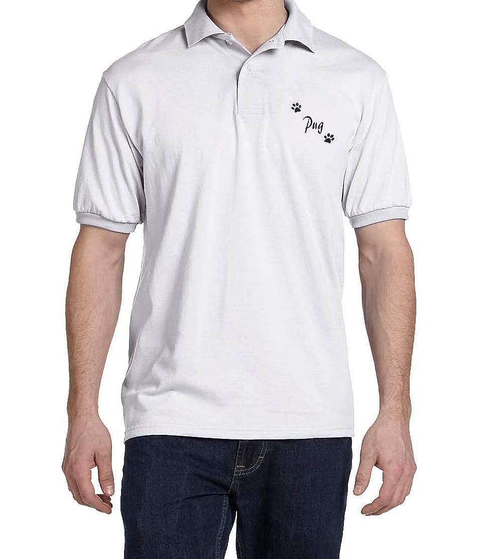 Pug Dog Paw Puppy Name Breed Polo Shirt Clothes Men Women