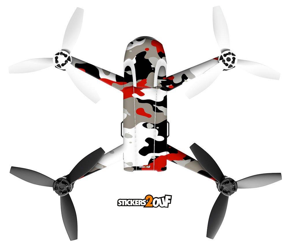 Stickers2ouf Pegatina de Camuflaje Rojo para Drone Bebop 2: Amazon ...
