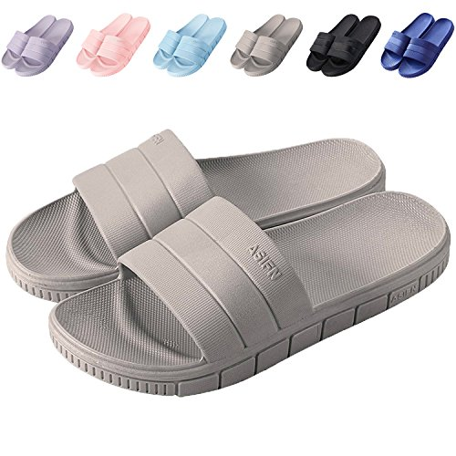 and Non House Indoor Home Womens for 1 Slip Men Drying 2 Sandal Slides Shoes Quick Slippers Grey Shower clootess 7xq4Y4v