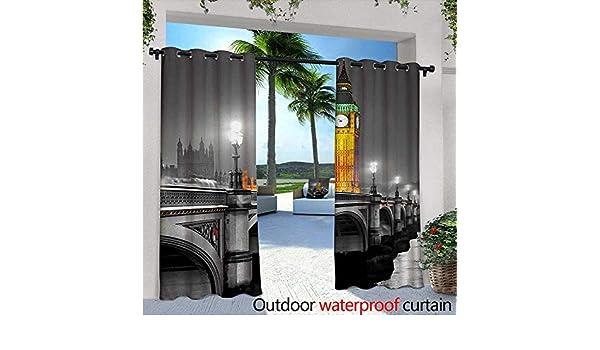 Cortinas de patio de Londres con dibujo a mano ilustración de Big ...