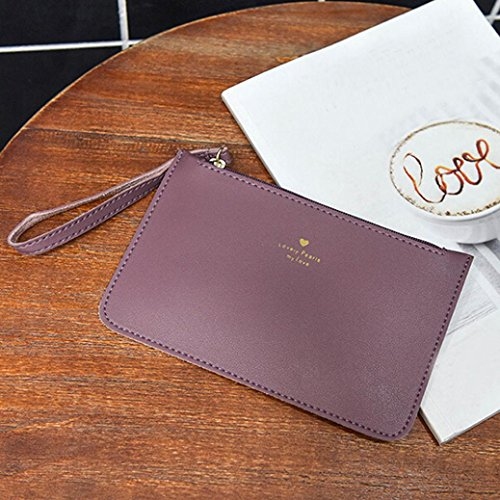 GINELO Women's Coin Handbag Messenger wallet Purple Fashion Leather Bags Bag Phone Bag rv5wqr